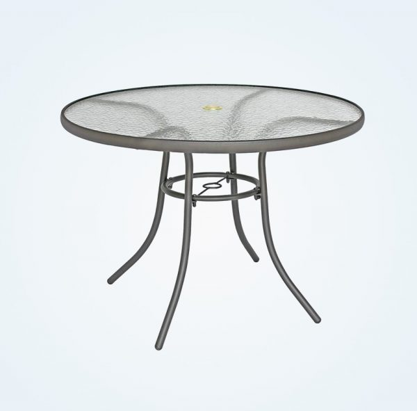 Round Glass Outdoor Table And Chairs, Round Glass Patio Table