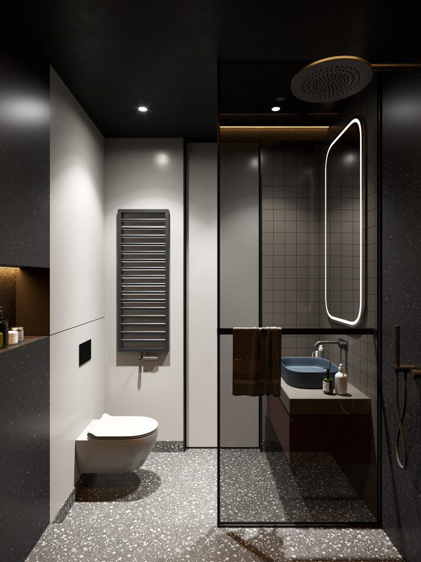 2 Small Apartment Layouts With Deliciously Dark Decor