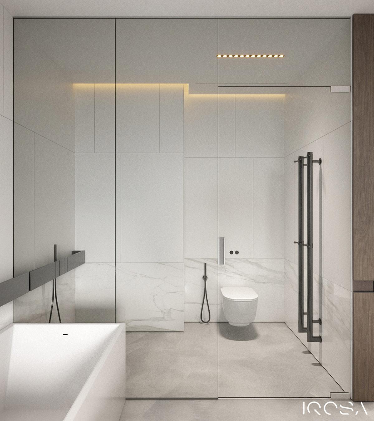 Smoky Grey Interior With Warm Ambient Lighting