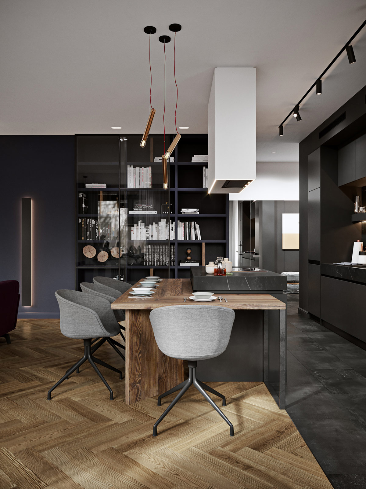Kitchen Island With Dining Table Attached Interior Design Ideas