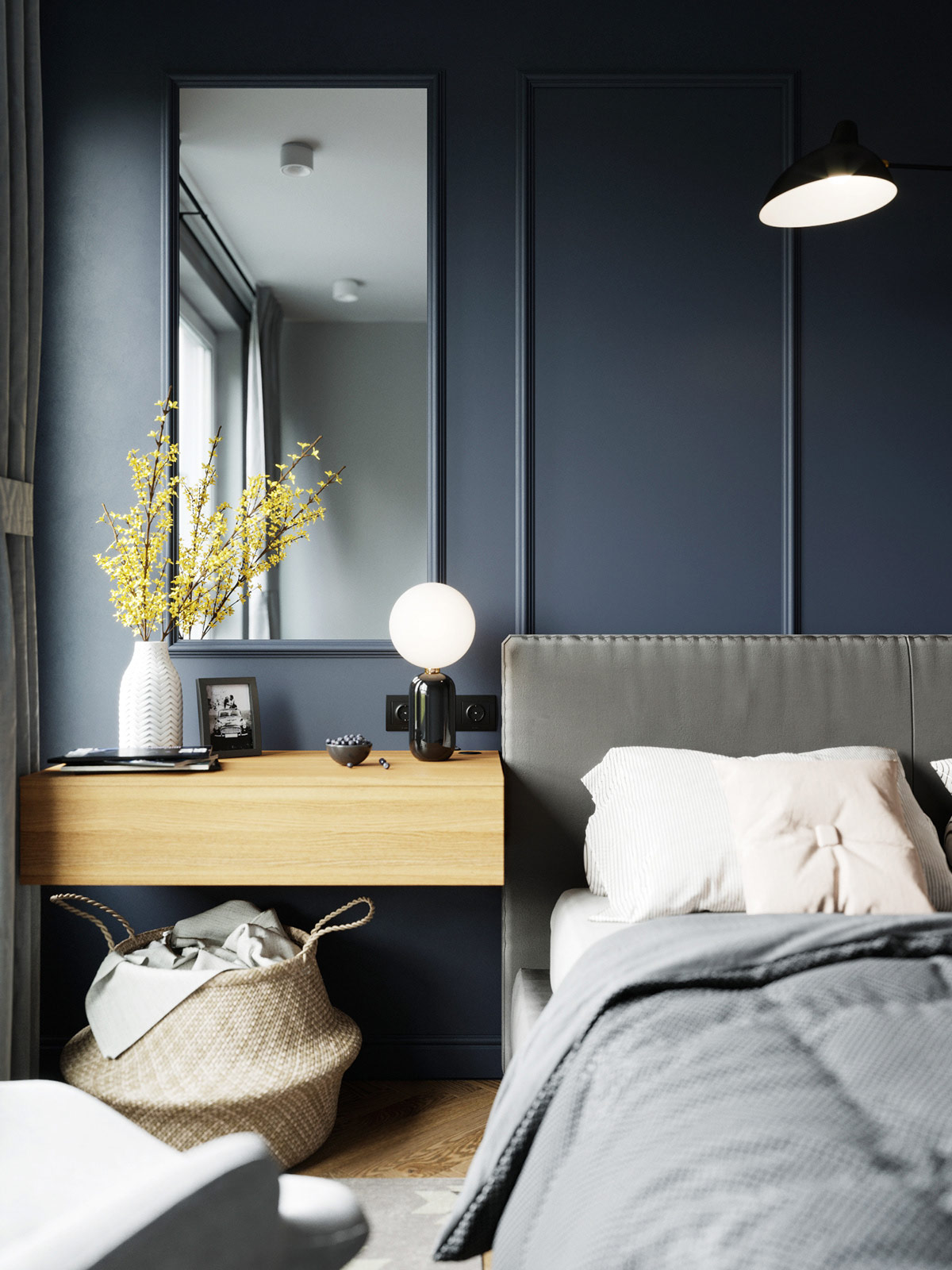 Jewel Tone Colors In A Contemporary Two Bedroom Apartment