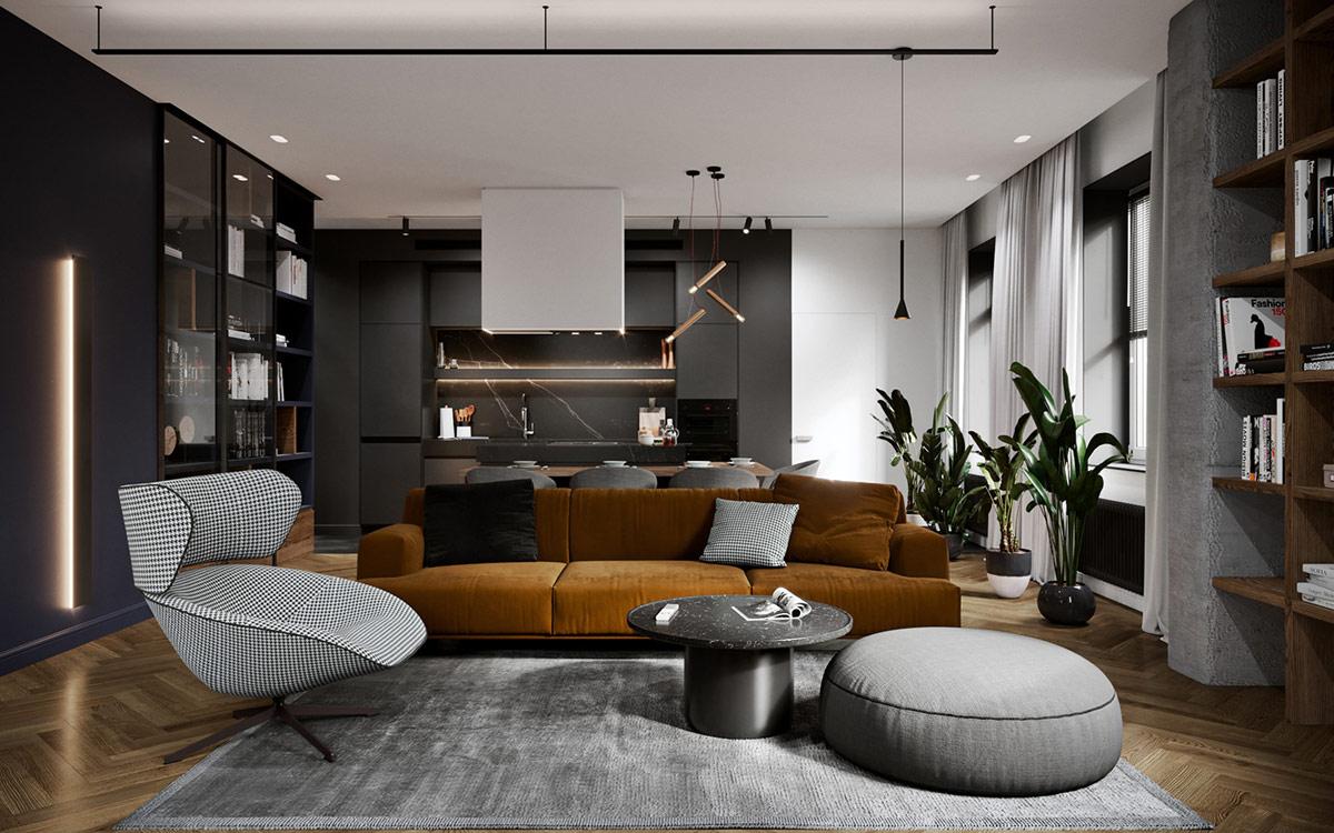 Décoration : La conception de la maison moderne colorée ...
