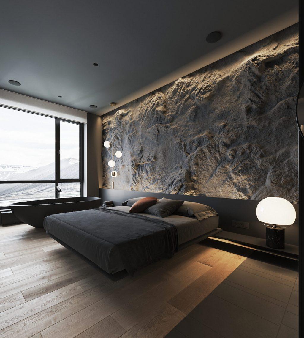 Textures To Add Interest Dark Interiors