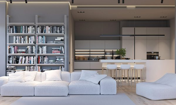 Two Minimalist White Homes with Creative Light and Texture