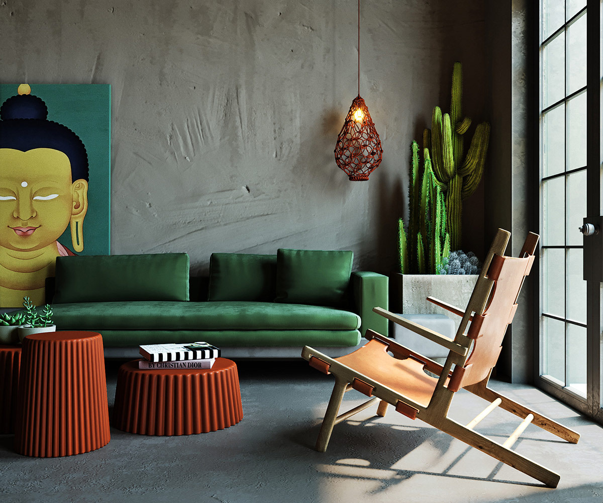 Asian Style Interiors Spliced With Sumptuous Deep Green And Teal Accents