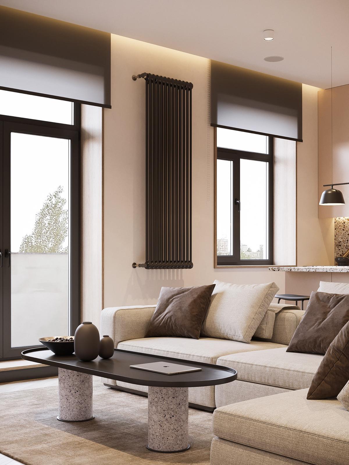 Papier Peint Petit Salon décoration : comment utiliser terrazzo en design d'intérieur