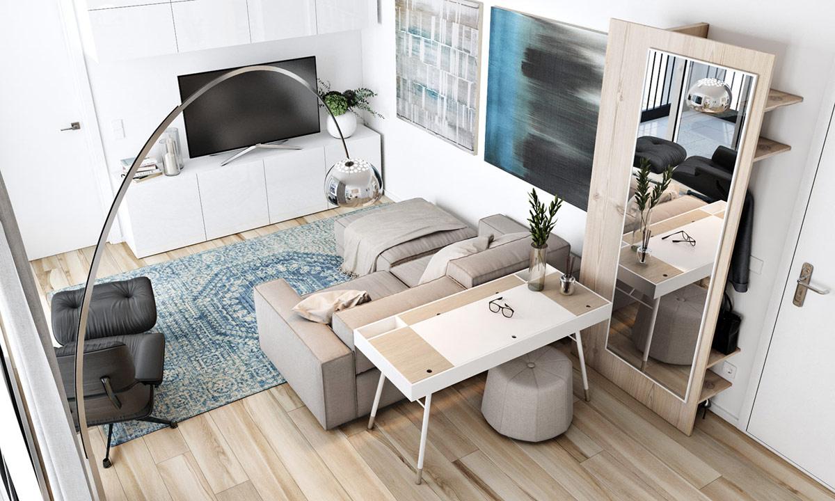 Idée Déco Appartement Jeune décoration : appartements de taille modeste qui font le