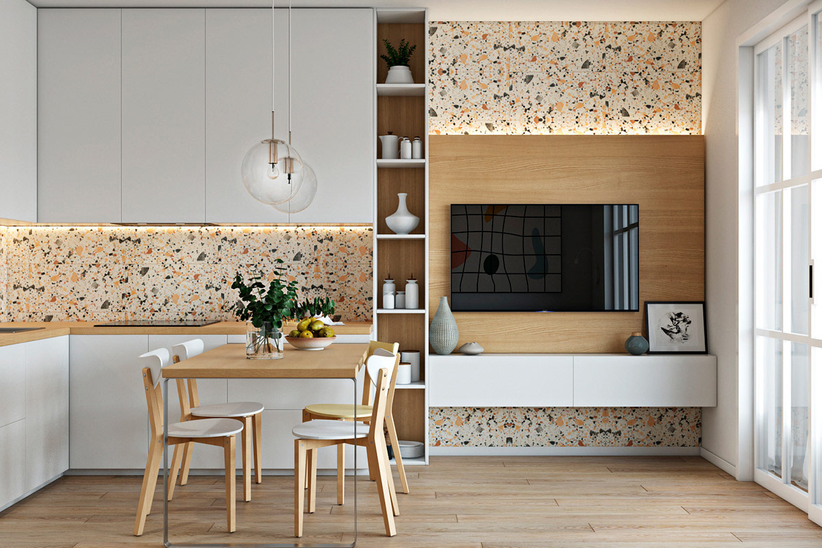 How To Use Terrazzo In Interior Design 4 Examples