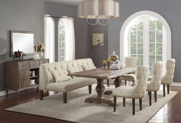 Dining Room Table Bench With Back Off 61, Dining Room Table With Upholstered Chairs And Bench