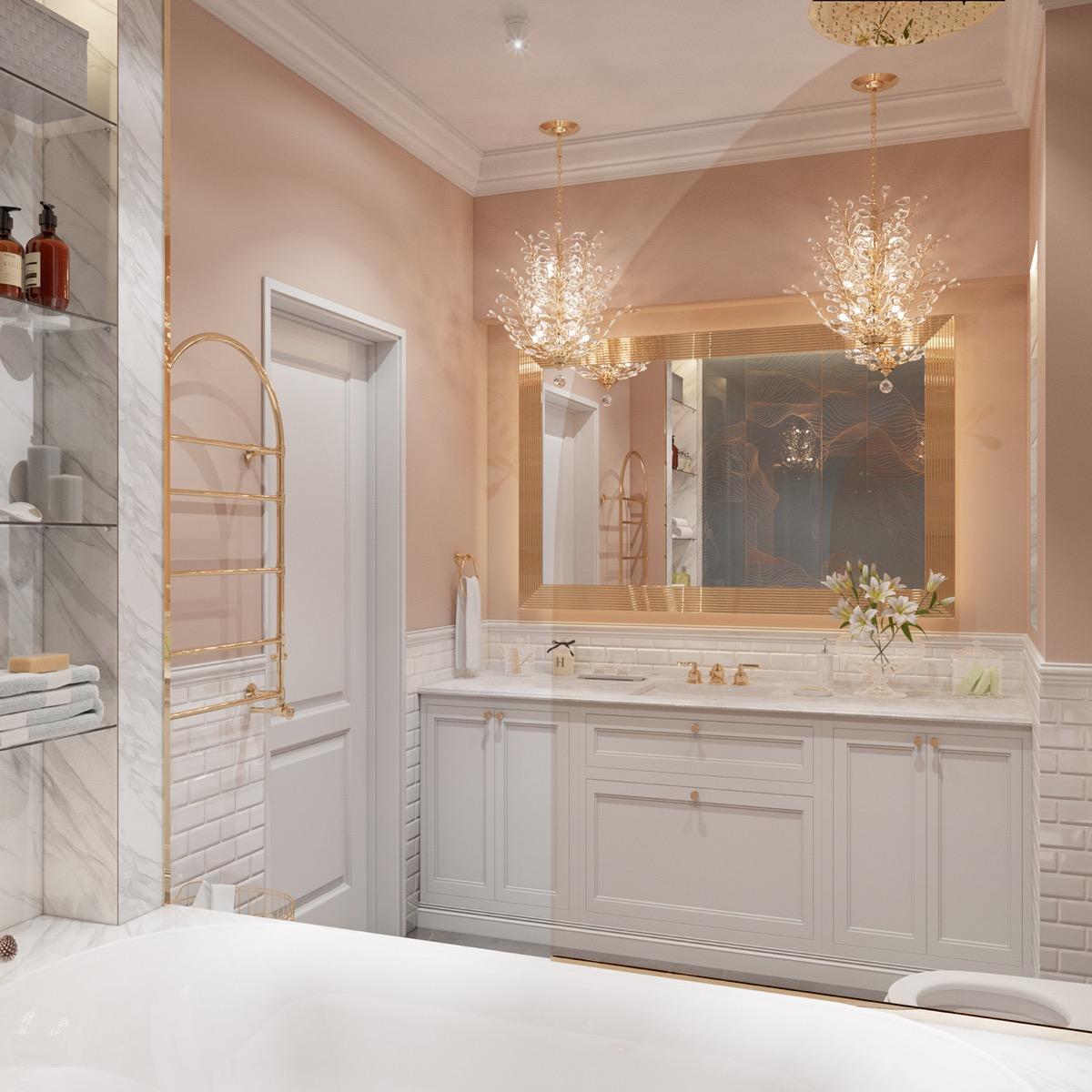 Crystal Bathroom Vanity Lights, Crystal Vanity Lights Bathroom