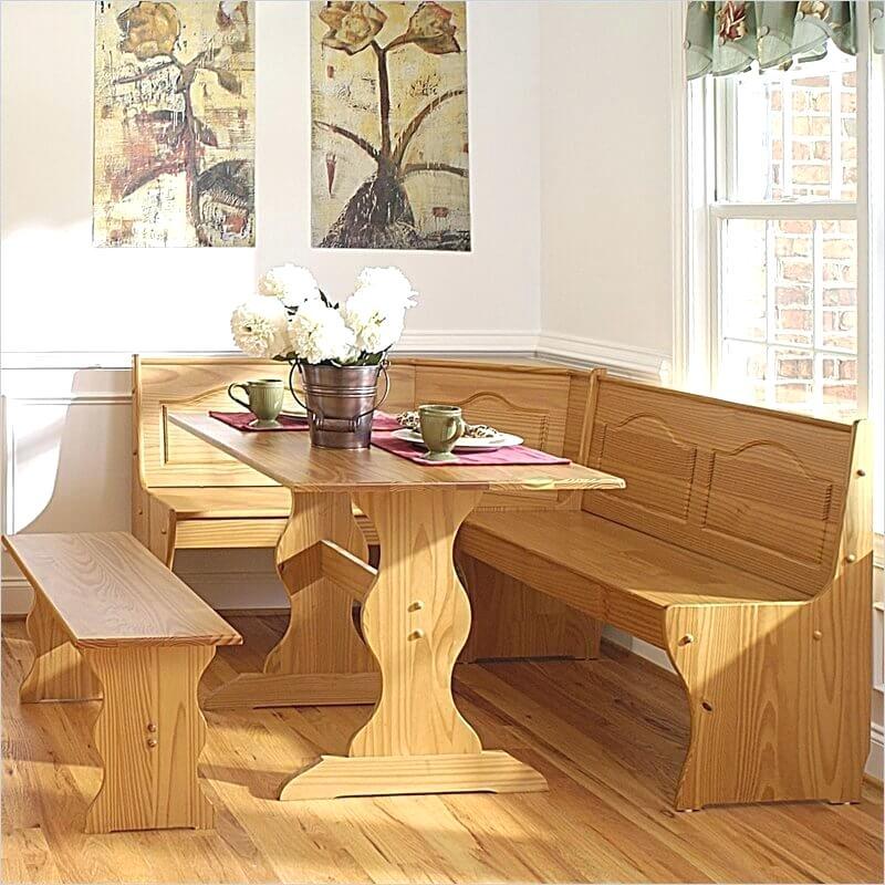 Dining Nook Furniture All Wood Bench, Dining Nook Furniture