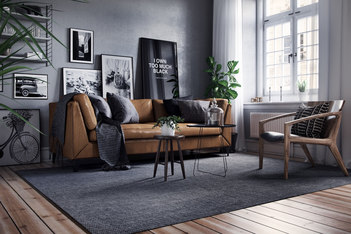 Grey Black And Brown Living Room, Gray And Brown Living Room