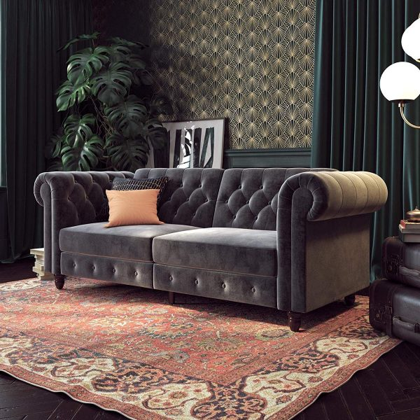 51 Tufted Sofas That Make Everyday, Tufted Living Room Furniture