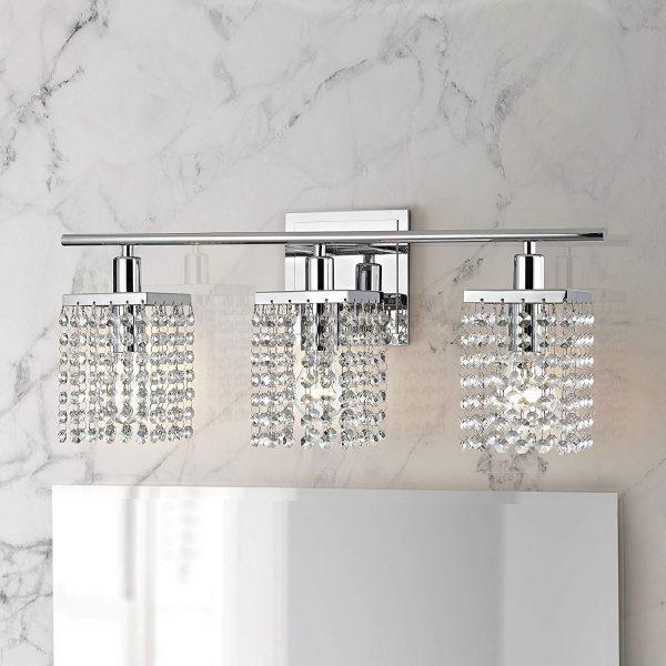 51 Bathroom Vanity Lights To Rejuvenate, Crystal Vanity Lights Bathroom