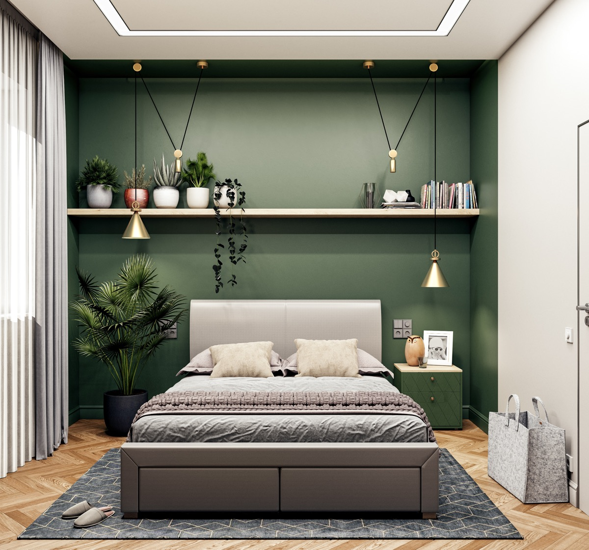 9 Green Bedrooms With Tips And Accessories To Help You Design Yours