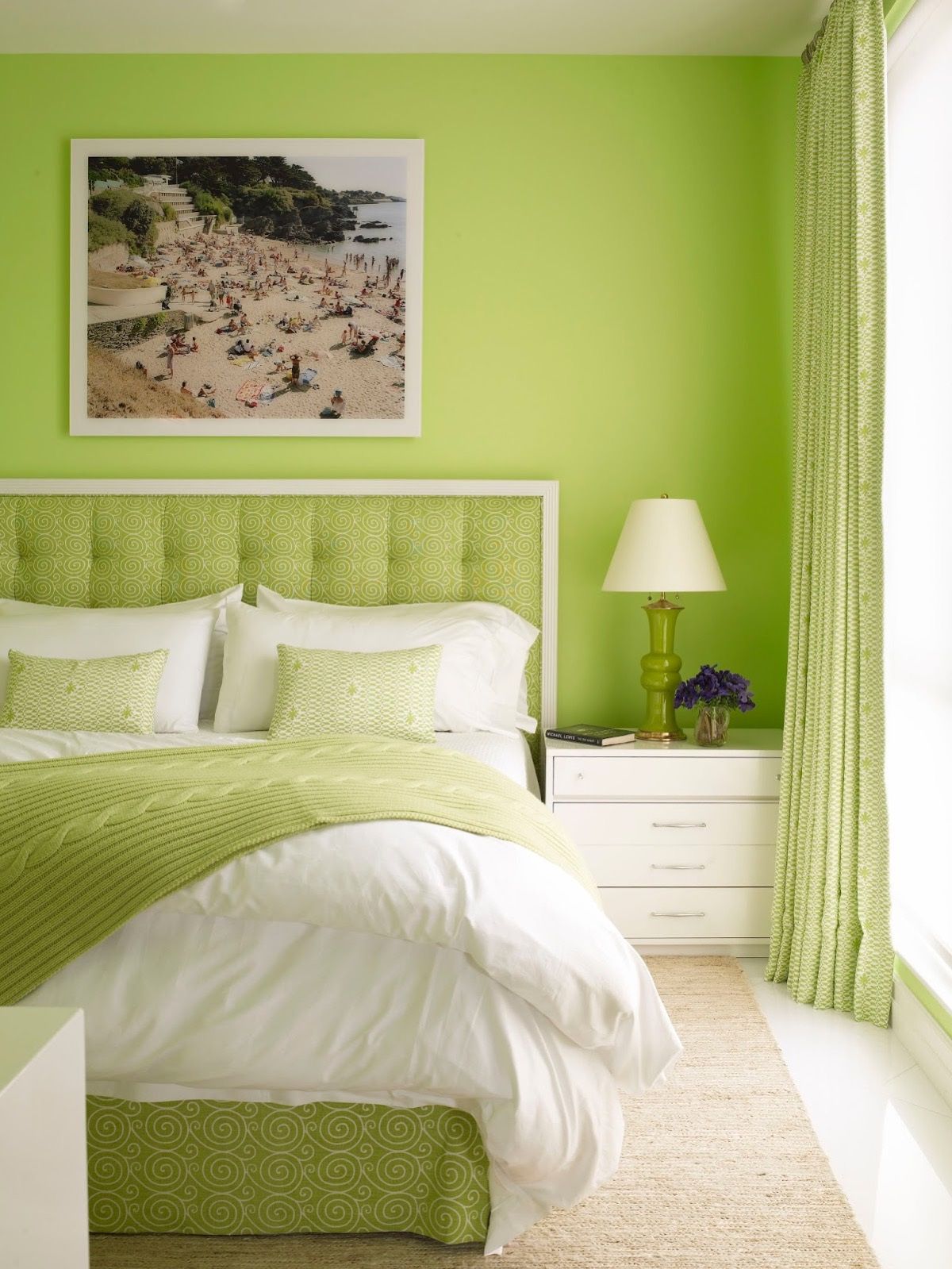 Lime green bedroom, lime green comforter sets black ...