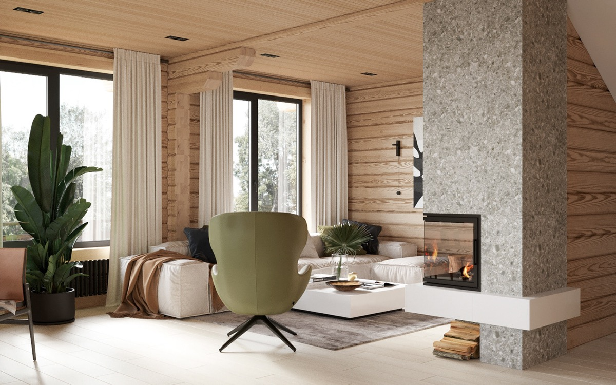 Modern Rustic Cabin With Cosy Small Room Ideas