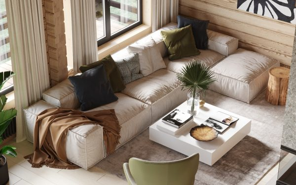 Modern Rustic Cabin With Cosy Small Room Ideas Free Cad Download World Download Cad Drawings