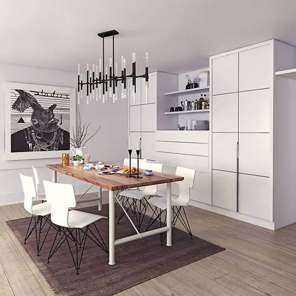 51 Linear Pendants And Chandeliers For, Linear Chandelier Dining Room