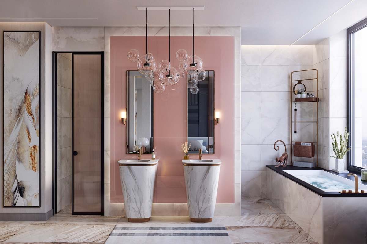 9 Pink Bathrooms With Tips, Photos And Accessories To Help You