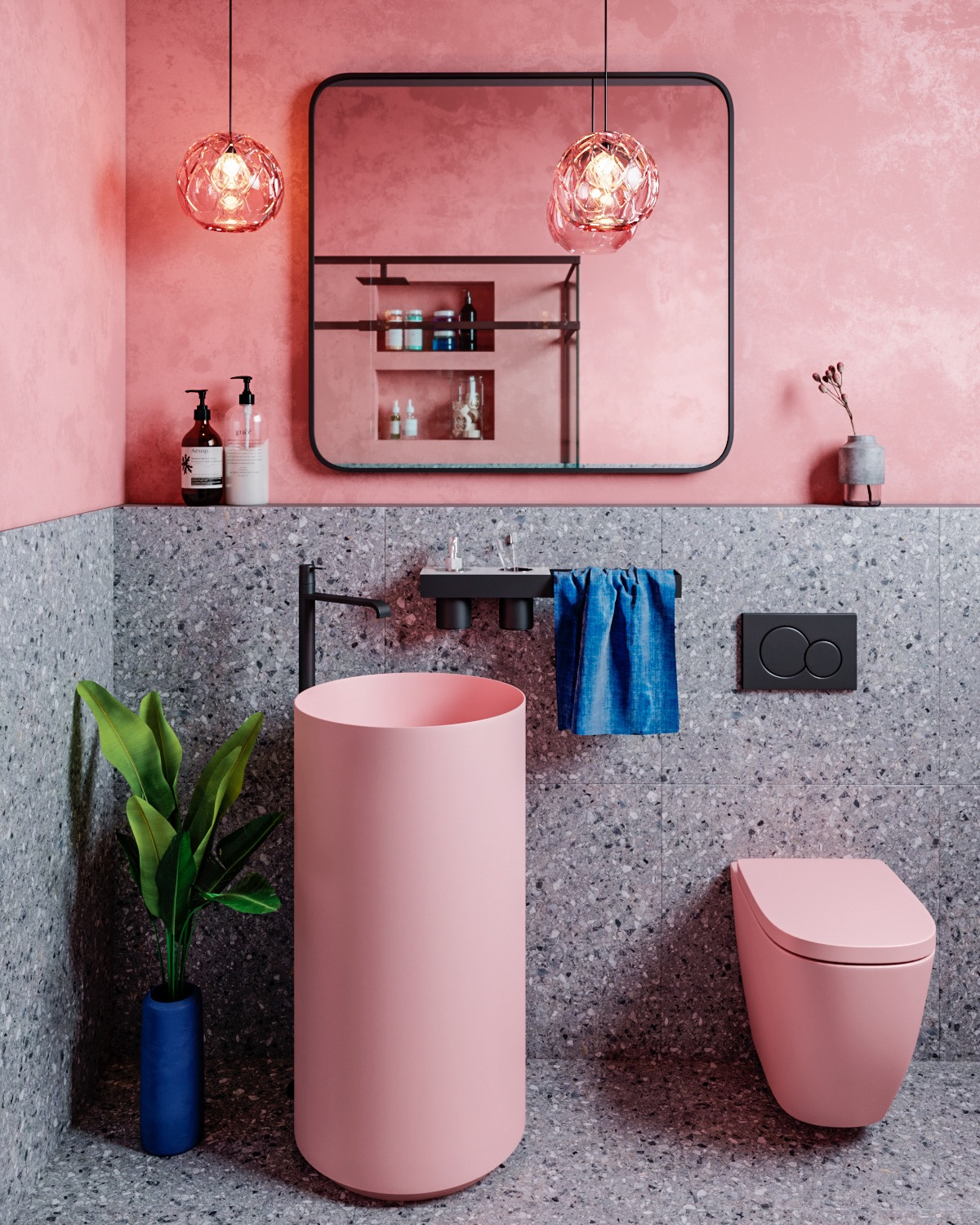 5 Pink Bathrooms With Tips, Photos And Accessories To Help You