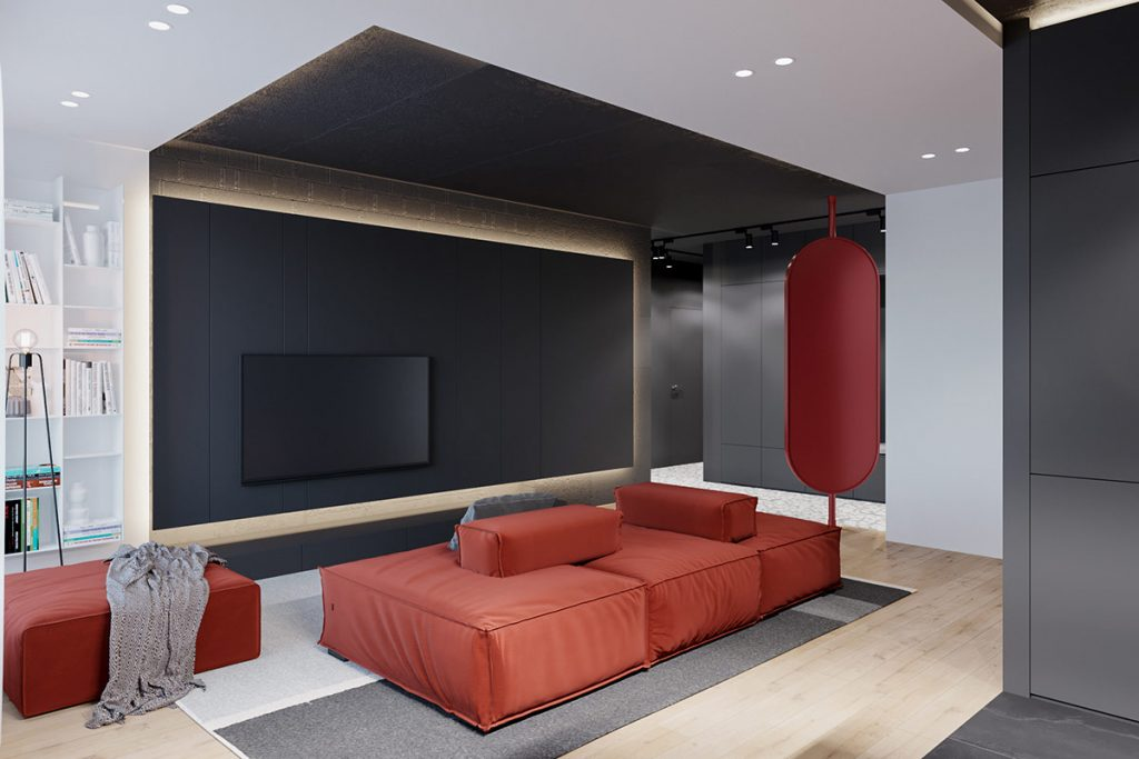 Get Ready For Hot Modern Red And Grey Interiors