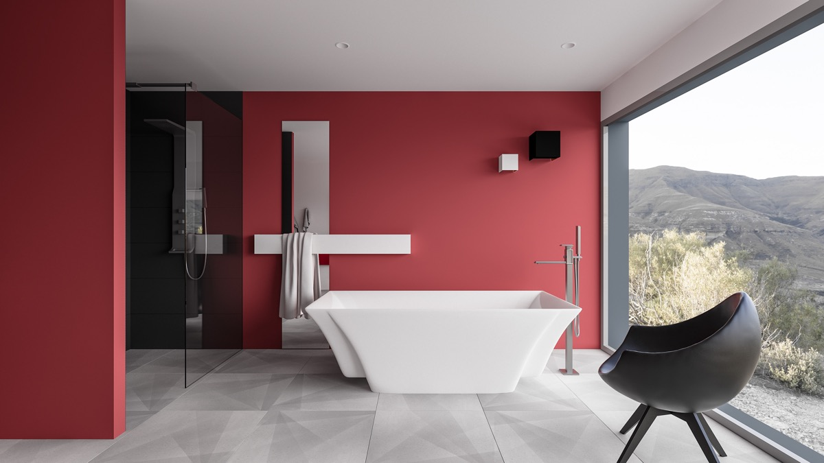 51 Red Bathrooms Design Ideas With Tips
