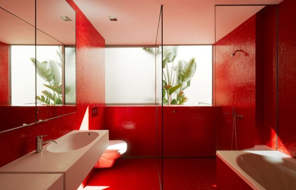 51 Red Bathrooms Design Ideas With Tips To Decorate And Accessorize Yours Free Download Architectural Cad Drawings