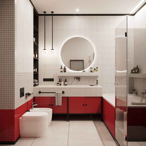 51 Red Bathrooms Design Ideas With Tips To Decorate And ... Bathroom Design Visualizer on bathroom design software, bathroom design grid, kitchen visualizer, bathroom tile visualizer,