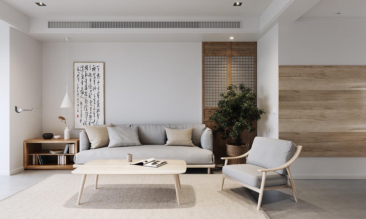 Moody Industriellen, Modernen Interieur Mit Holz Und Beton Dekor