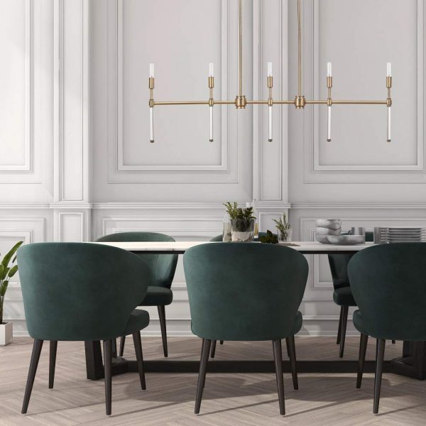 51 Dining Room Chandeliers With Tips On, What Size Linear Chandelier For Dining Room