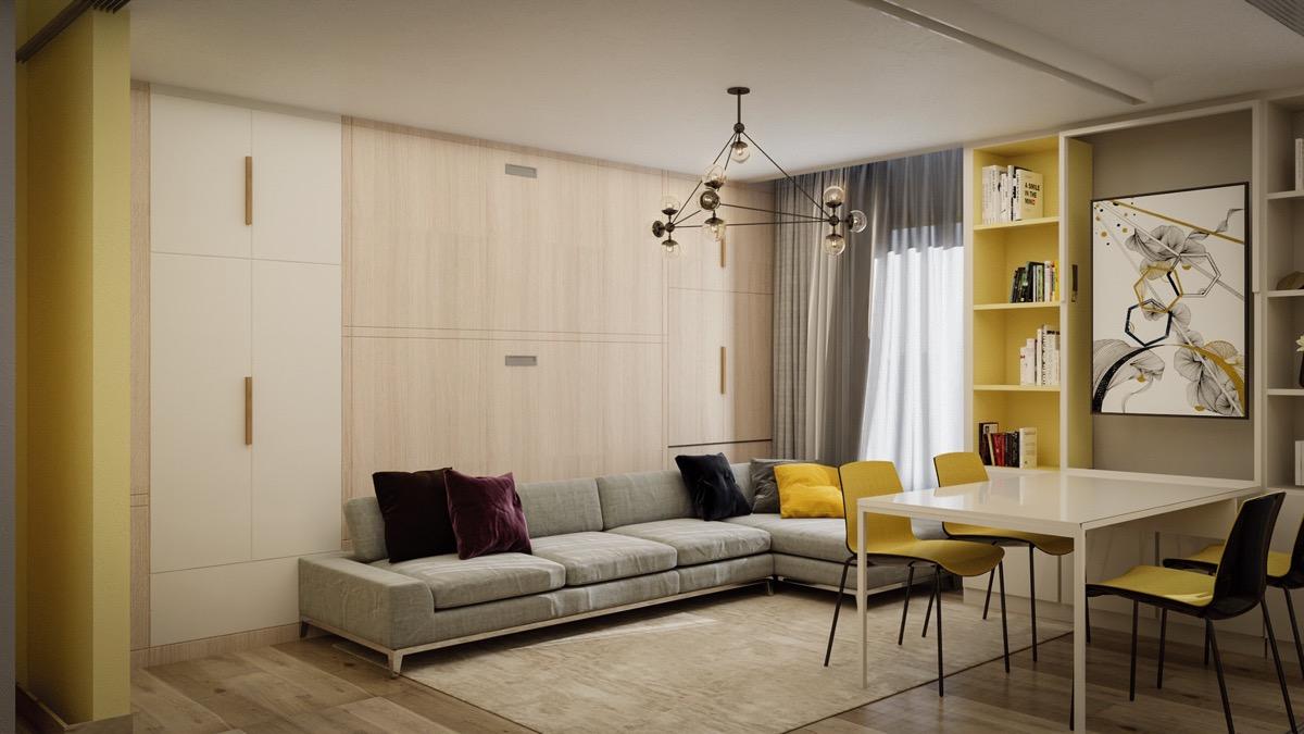 Zwei Monochrom-Moderne Meisterwerke dieser Innenarchitektur