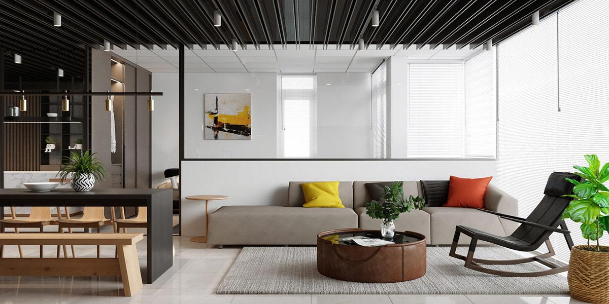 Platzsparende Kleine Studio-Styling In Unter 45 Quadratmeter