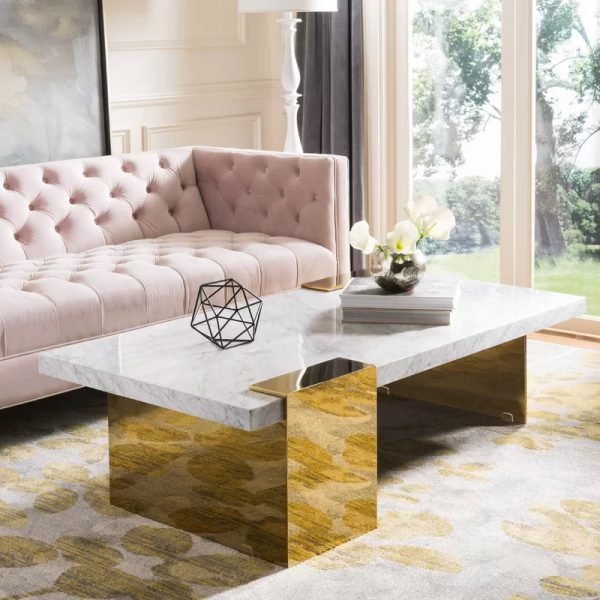 51 Marble And Faux Coffee Tables, Marble Living Room Table
