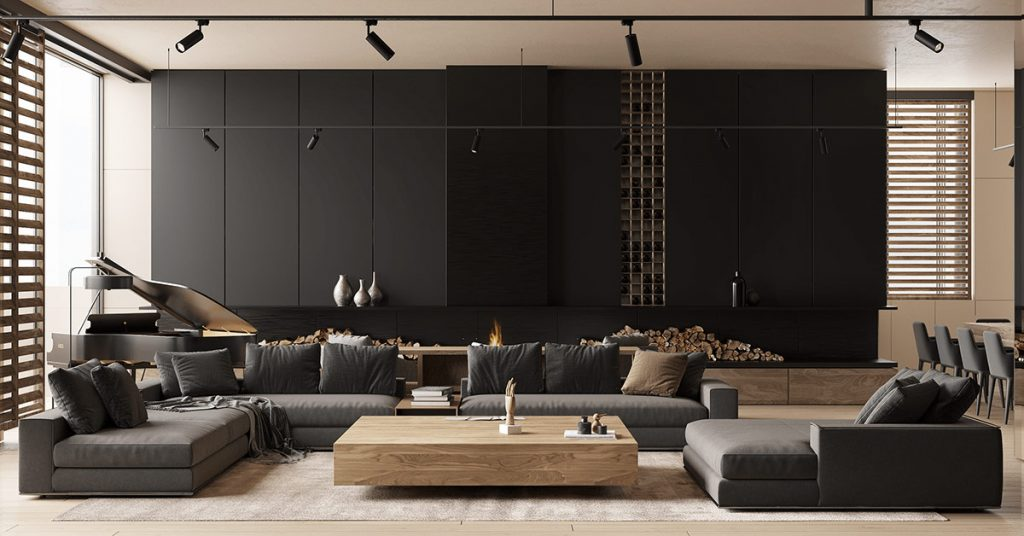 black living room 1024x536