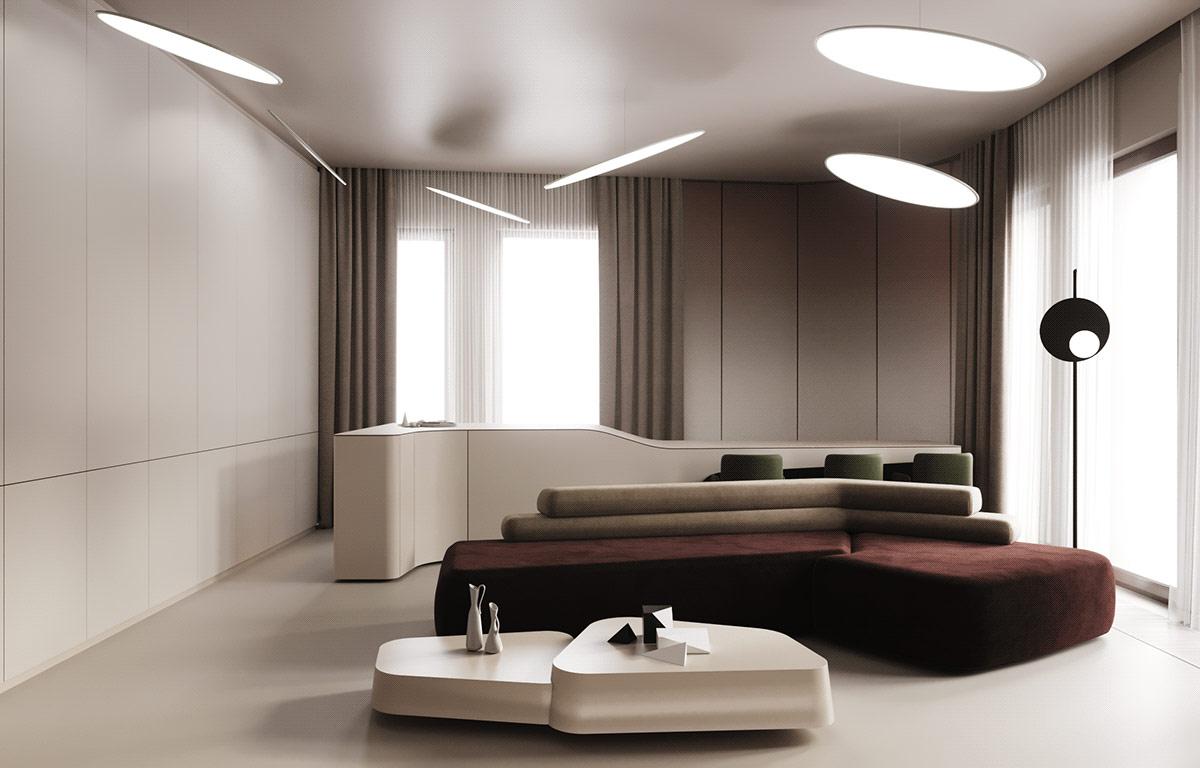Mutig Lichtgelb Und Weiß Wohnkultur Mit Terrazzo Berührt