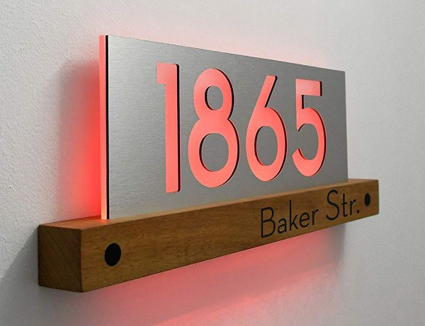 6 inch Magnetic Traditional House Numbers or Letters; color choices