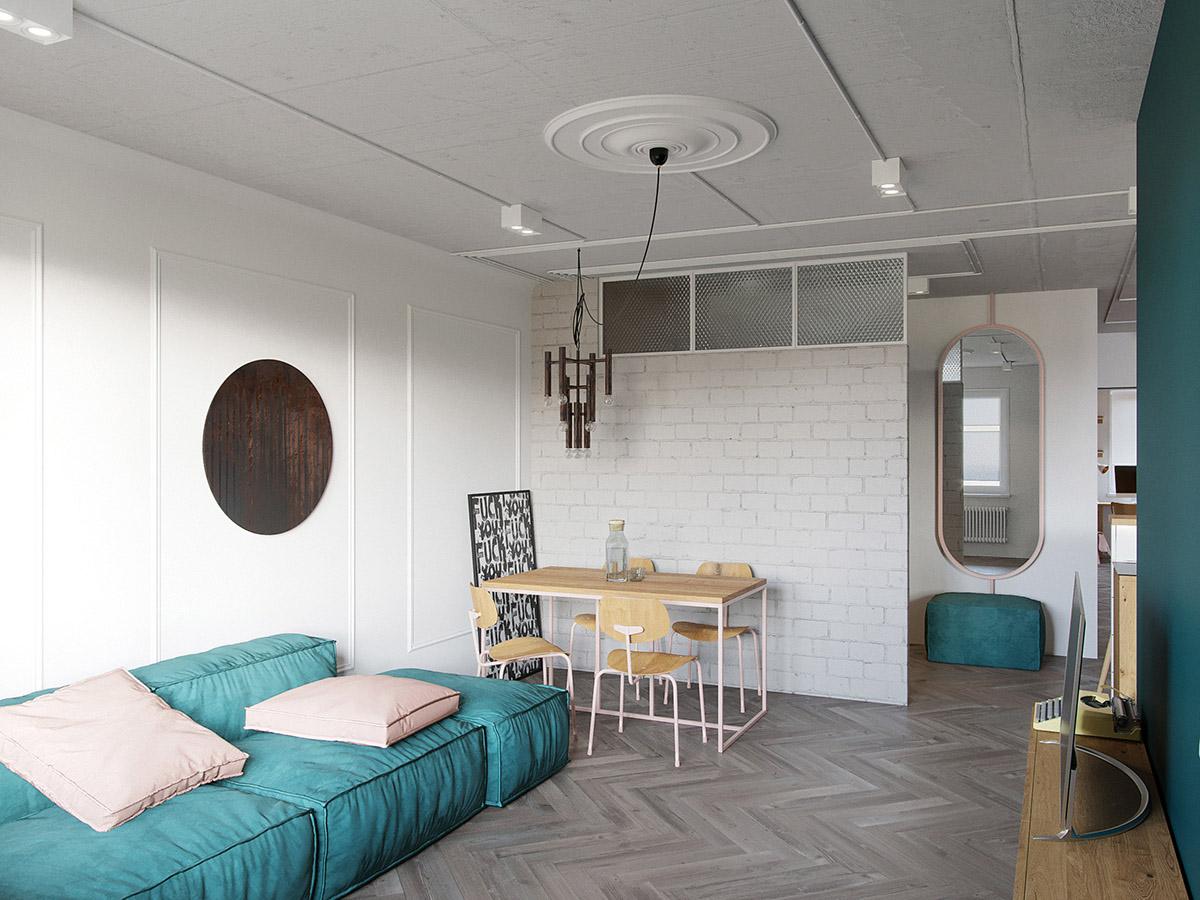Deco Salon Rose Poudré décoration : intérieurs de maison familiale insolite de