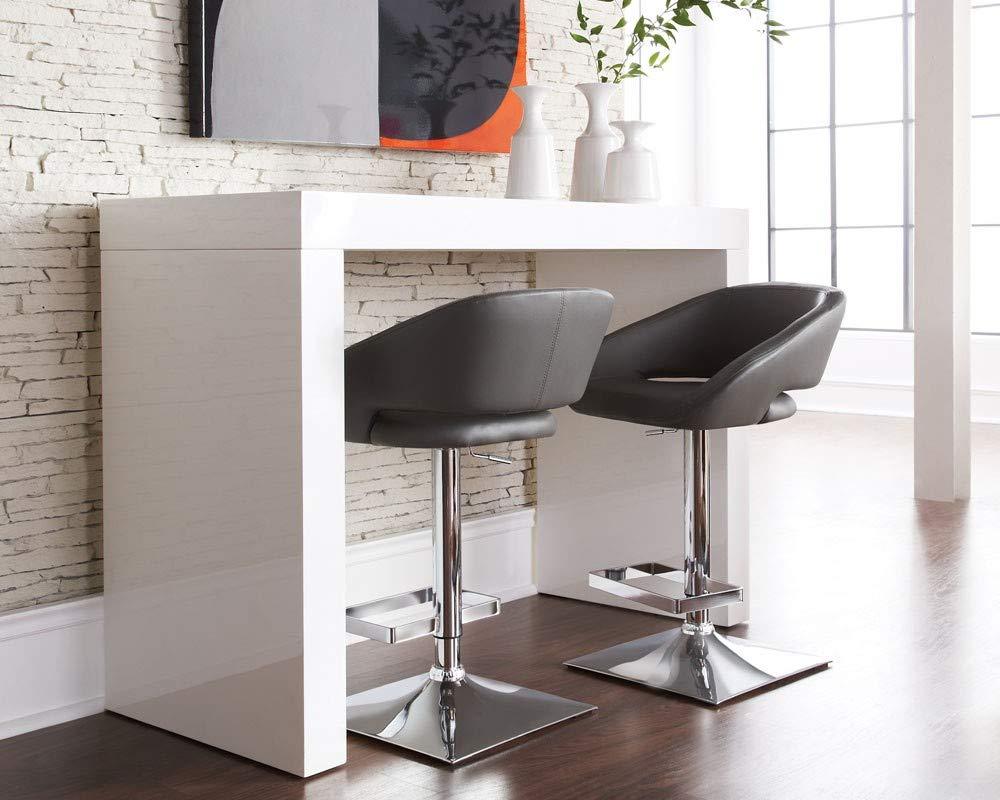 white kitchen bar table for minimalist kitchen designs   Interior ...