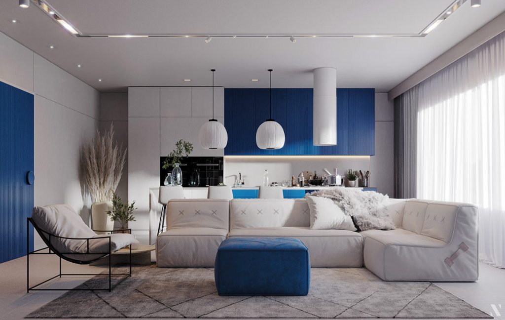 Uplifting Blue Interiors That Give That Blue Sky Mood
