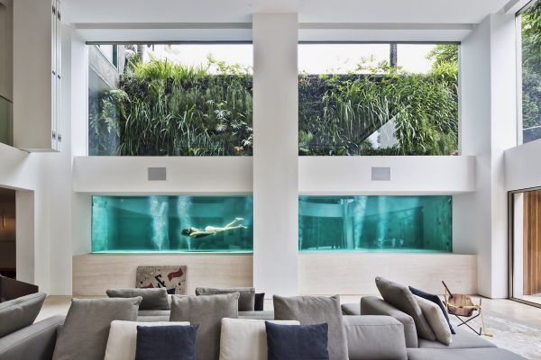 A Brazilian Art Collector?s Home With A Luxurious Glass Swimming Pool