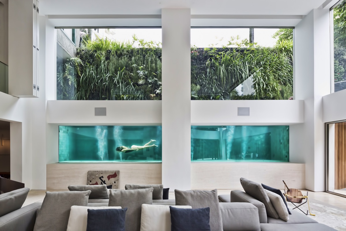 A Brazilian Art Collector S Home With A Luxurious Glass Swimming Pool