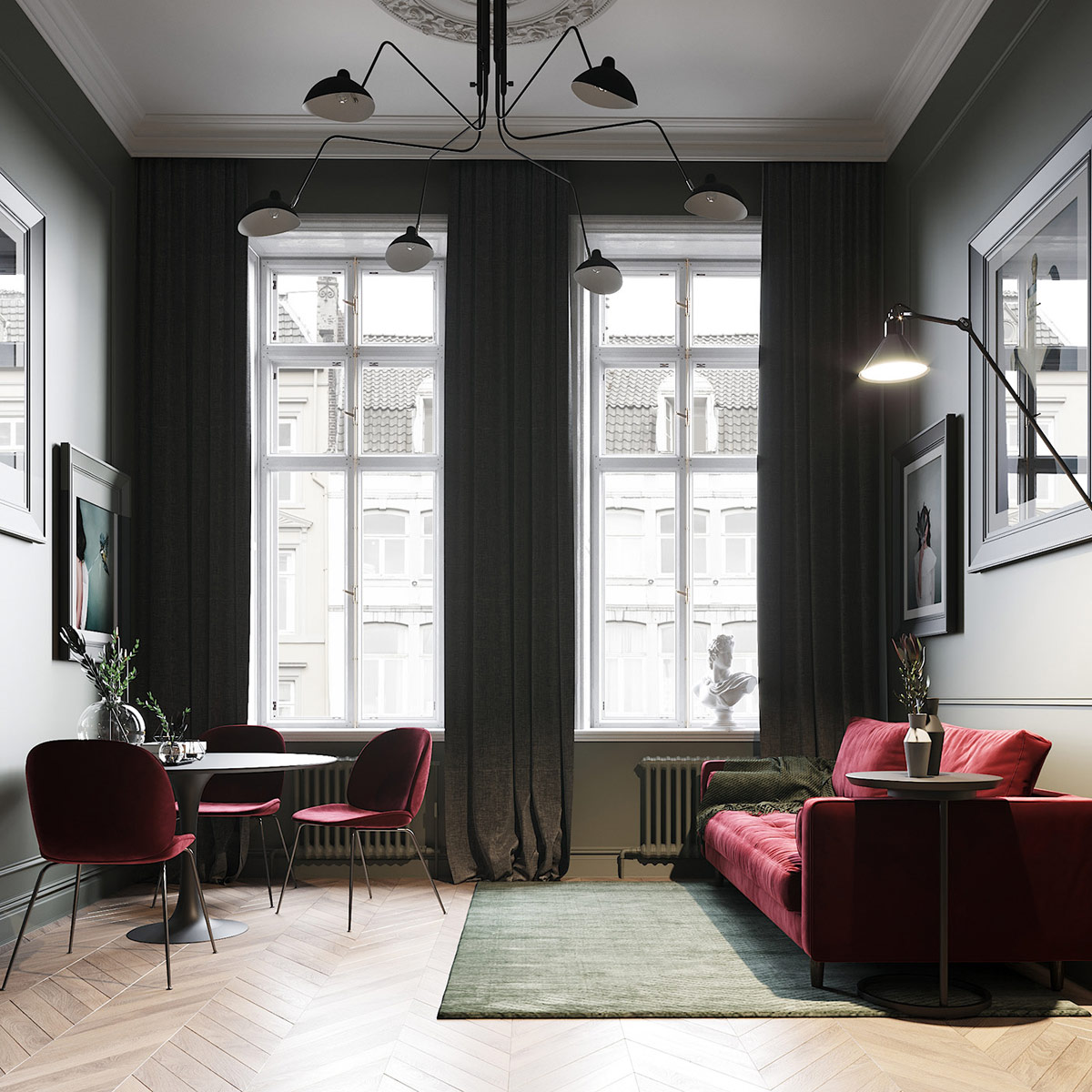 4 Interiors That Show How To Use Red And Green In A Non Clashing Way