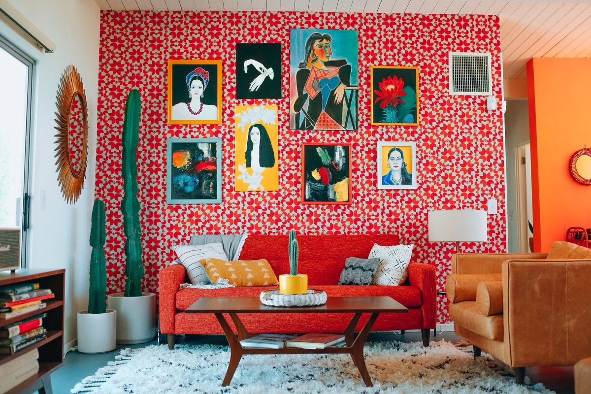 Red And Turquoise Living Room, Teal And Red Living Room