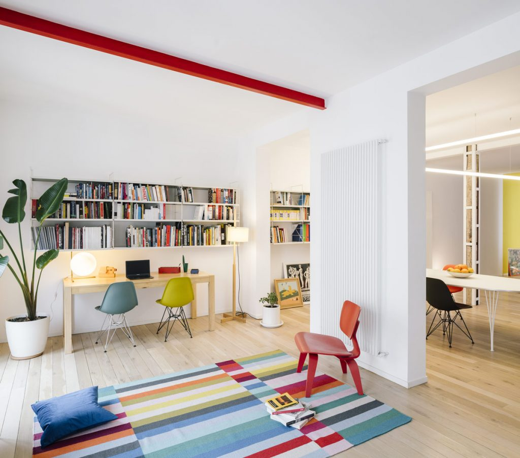 Unique Interiors Enlivened With Multicolour Decor
