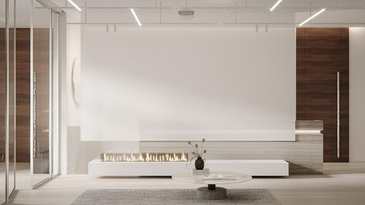 Zentrum Des Jahrhunderts Moderne, Minimalistische Inneneinrichtung & Mobiliar Ideen