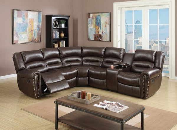 51 Curved Sofas That Make Lounging Look, Curved Leather Reclining Sectional Sofa