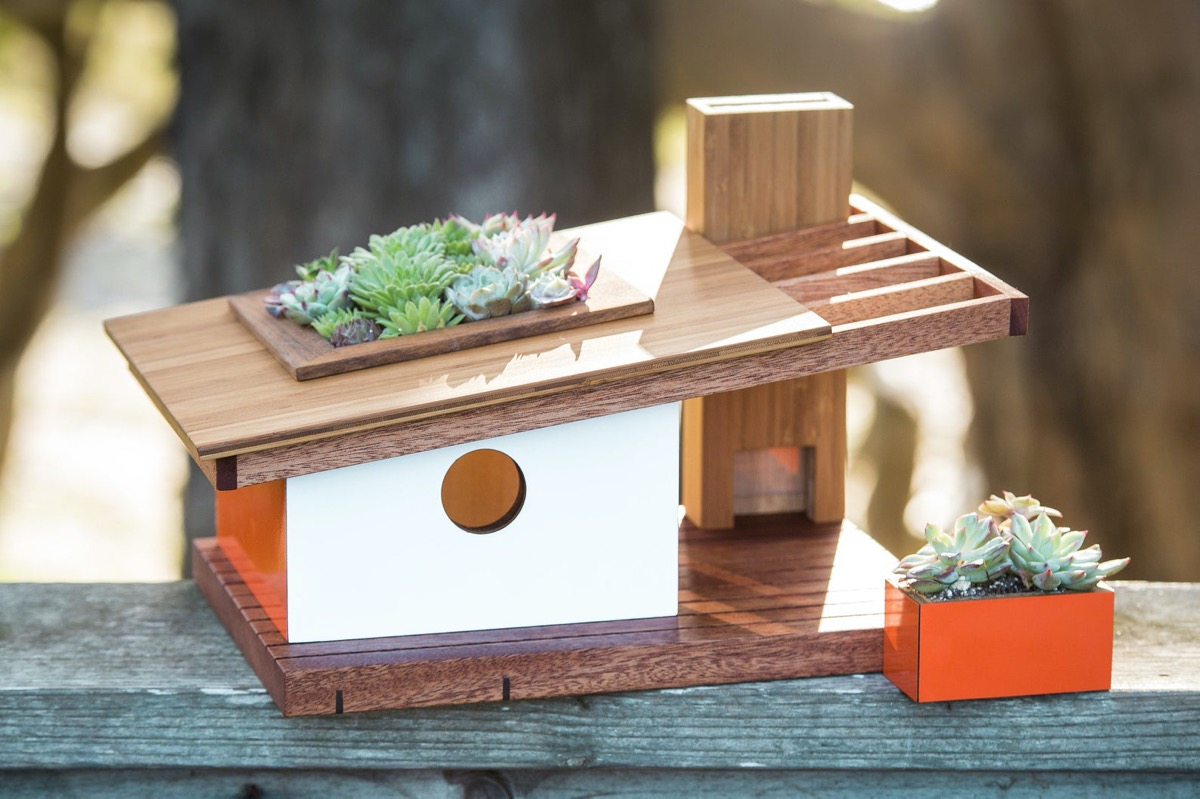 Architecturally Inspired Mid Century Modern Style Bird Houses