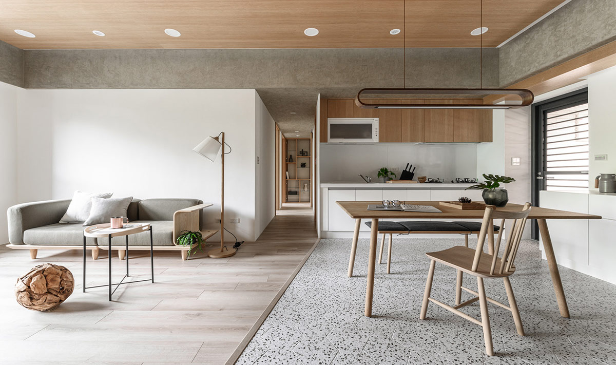 Welcoming White Grey And Wood Interiors