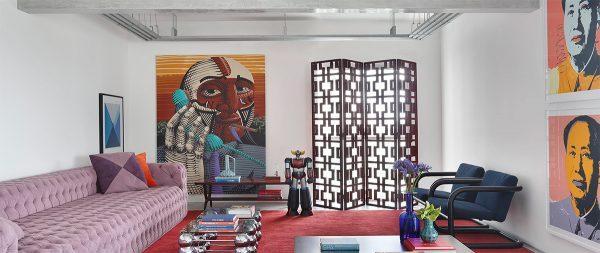 Hot Multicolour Accents & Cool Concrete Interiors